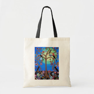 DAY OF THE DEAD CROW TOTE BAG