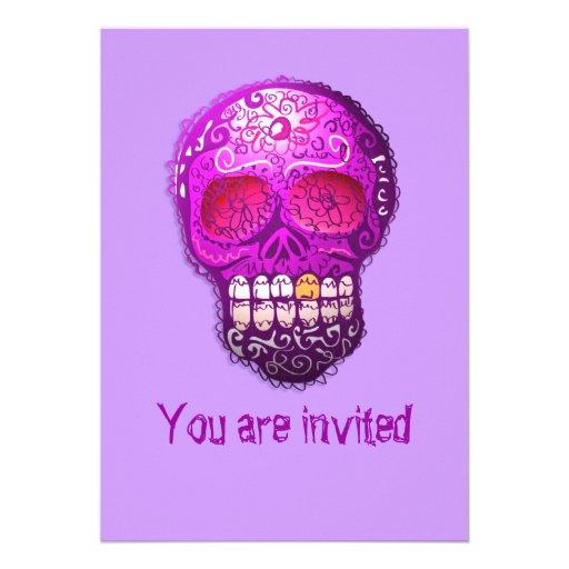 Day of The Dead Custom Invites