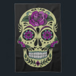 "Day of the Dead Custom Towel<br><div class=""desc"">This is a custom Day of the Dead image with beautiful bold colors. It would make an awesome gift for anyone.</div>"
