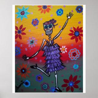 Day of the Dead Dancing Queen Poster
