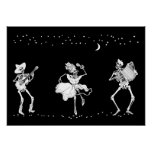 Day of the Dead Dancing Skeletons Poster