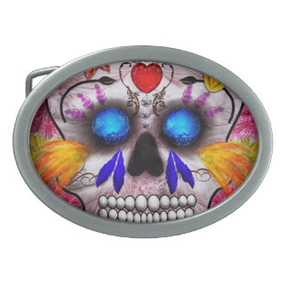 Day of the Dead - Death Mask Belt Buckles