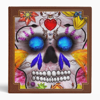 Day of the Dead - Death Mask 3 Ring Binders