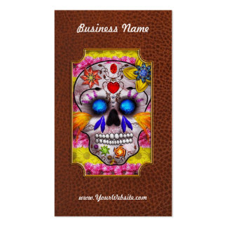 Day of the Dead - Death Mask Business Card Template