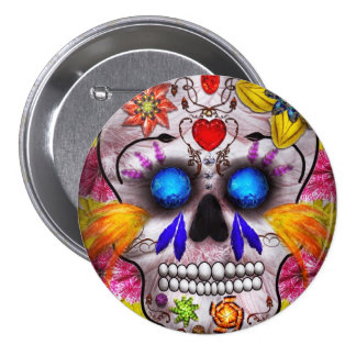 Day of the Dead - Death Mask Pins