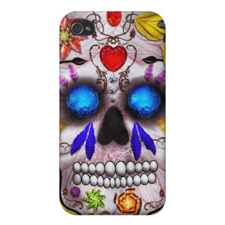 Day of the Dead - Death Mask iPhone 4/4S Covers