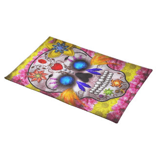 Day of the Dead - Death Mask Cloth Placemat