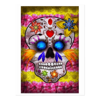 Day of the Dead - Death Mask Postcard