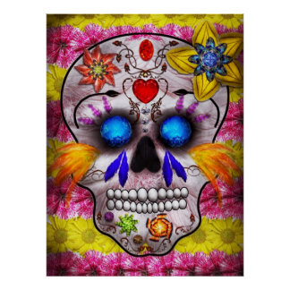 Day of the Dead - Death Mask Print
