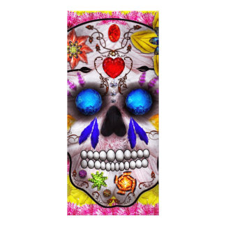 Day of the Dead - Death Mask Rack Card Template