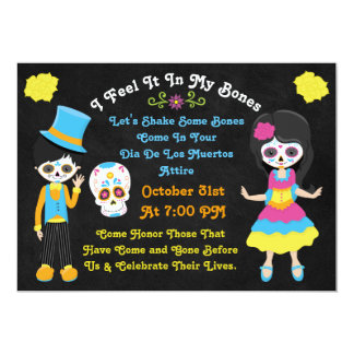 Day of the Dead Dia De Los Muertos Calacas Invite