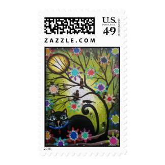 Day Of The Dead, DOD, Black Cat, Postage Stamp