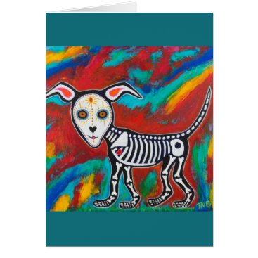 Halloween Themed Day of the Dead Dog Card