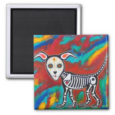 Halloween Themed Day of the Dead Dog Magnet