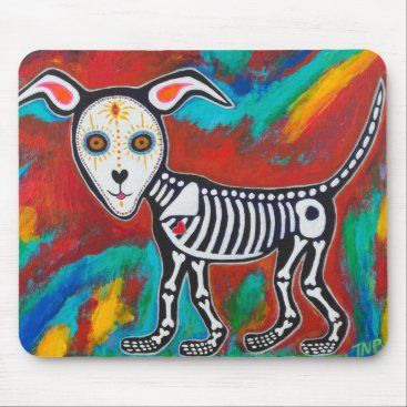 Halloween Themed Day of the Dead Dog Mouse Pad