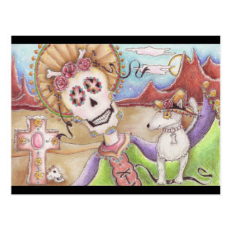Day of the Dead Dusk With Dog Postcard
