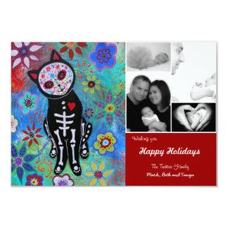 Day of the Dead El Gato Christmas Card Invitation