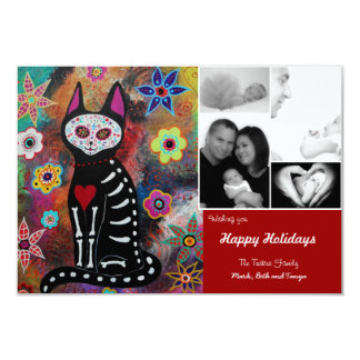Day of the Dead El Gato Christmas Card Personalized Announcements