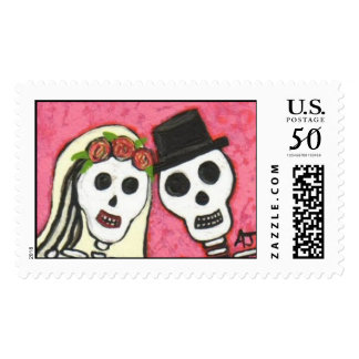 Day of the Dead, Eternal Marriage - Postage Stamp