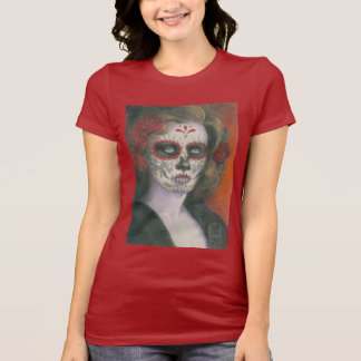 Day of the Dead Face with Roses T-Shirt