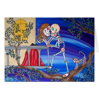 Day of the Dead Famous Lovers Romeo and Juliet Greeting Card