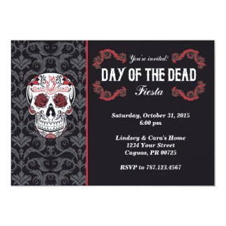 Day of the Dead Fiesta Party Invitation card