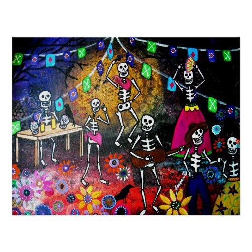DAY OF THE DEAD FIESTA POSTERS