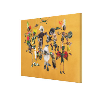 Day of the Dead figures, from Oaxaca Canvas Print