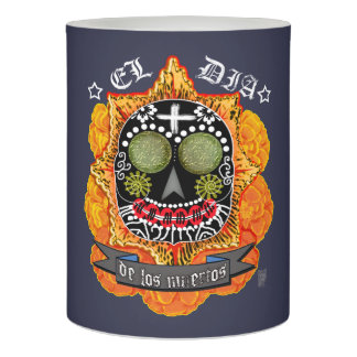 day of the dead flameless candle