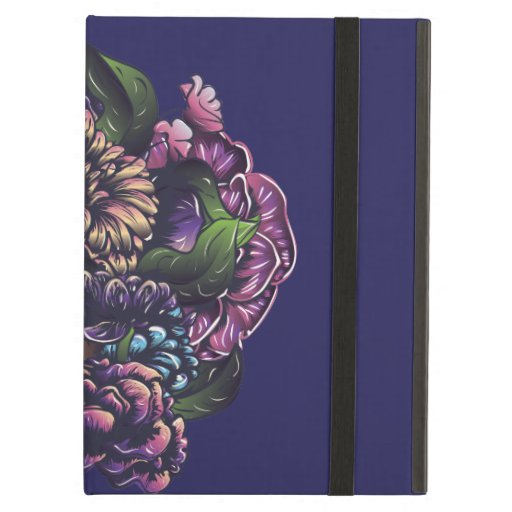Day of the dead floral sugar skull with flowers case for iPad air