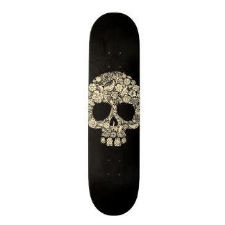 Day of The Dead Flower Skull Skateboard Deck