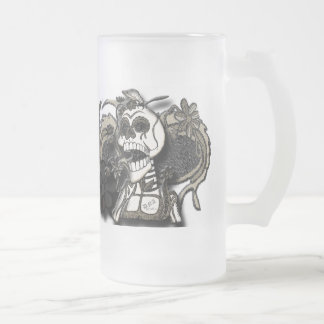 day of the dead frosted mug