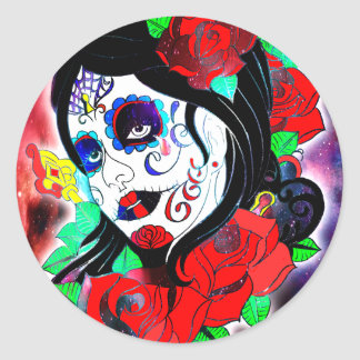 Day Of The Dead Girl 2 Classic Round Sticker