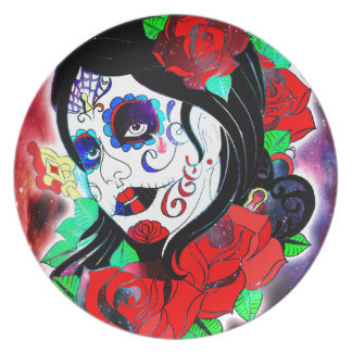 Day Of The Dead Girl 2 Plate