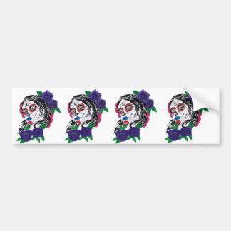 day of the dead girl bumper sticker