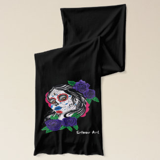 day of the dead girl scarf