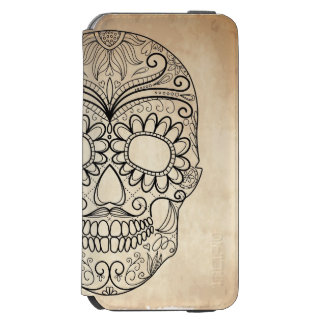 Day Of The Dead Grungy Skull iPhone 6/6s Wallet Case