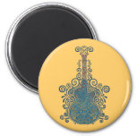 Day of the Dead Guitar 2 Inch Round Magnet