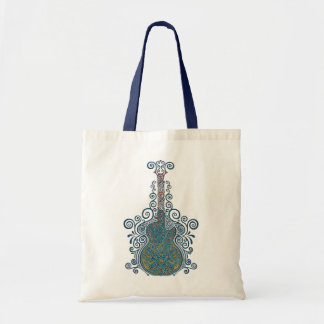 Day of the Dead Guitar Budget Tote Bag