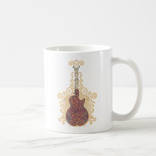 Day of the Dead Guitar Classic White Coffee Mug