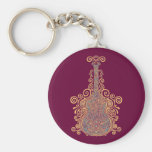 Day of the Dead Guitar Key Chain