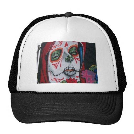 Day of the Dead Head Trucker Hats