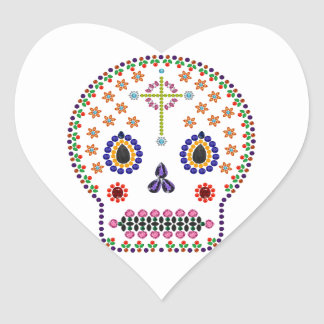 Day of the Dead Heart Sticker