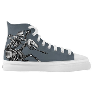 Day of the Dead High Top Printed Shoes