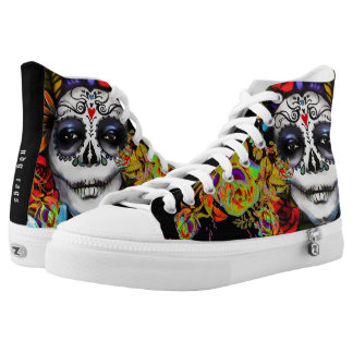 Day of the Dead High-Top Sneakers