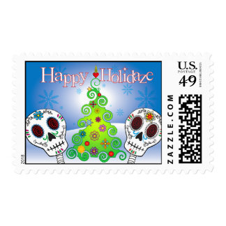 Day of the Dead Holiday Stamps