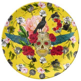 Day of the Dead I Dia De Los Muertos Plate