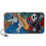 Day Of The Dead Jazz Band Doodle Notebook Speaker