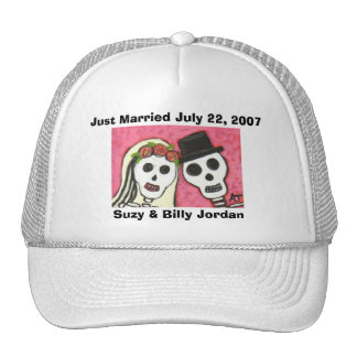 Day of the Dead - Just Married cap Mesh Hat