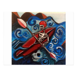 Day of the Dead Kayaker Postcard